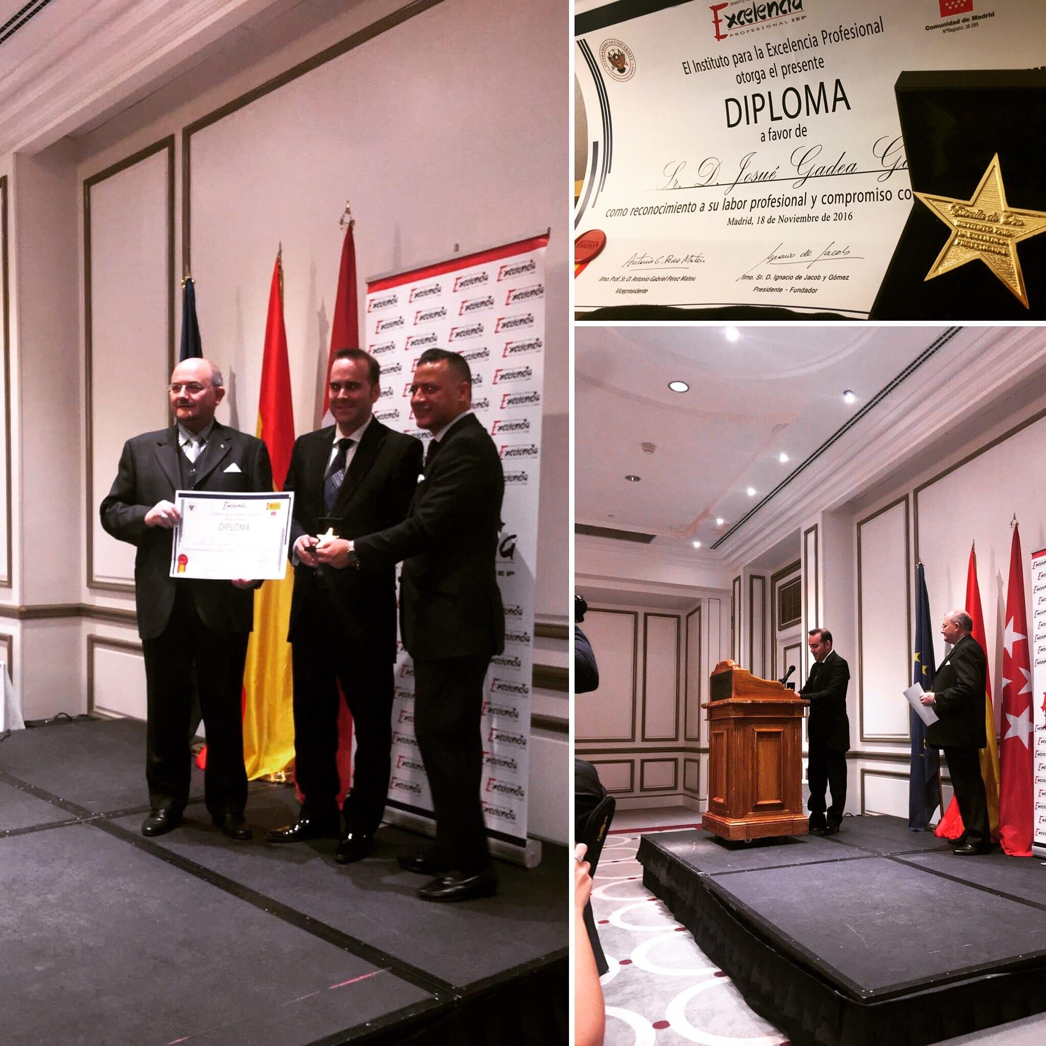 Josue Gadea, estrella de oro del Instituto para la Excelencia Profesional 2016