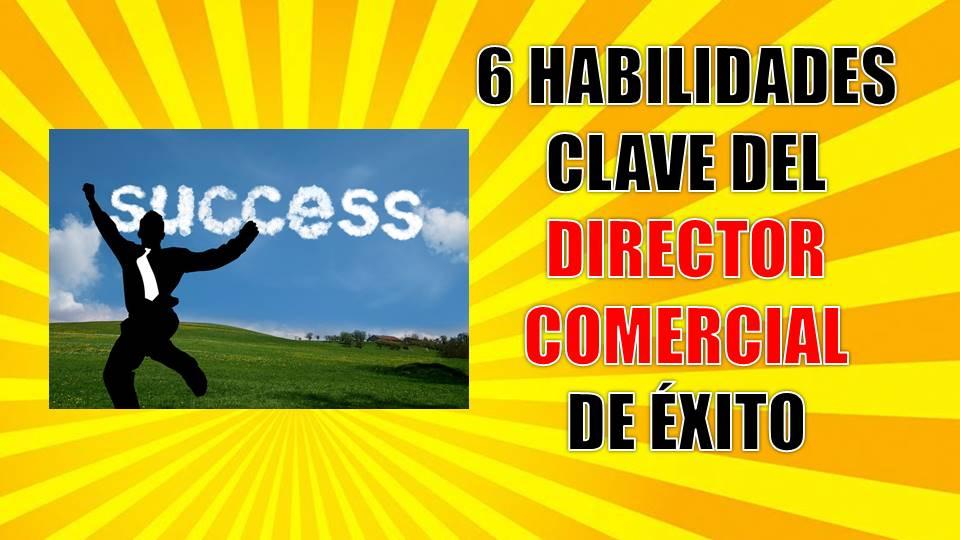 6 Habilidades clave del director comercial de éxito