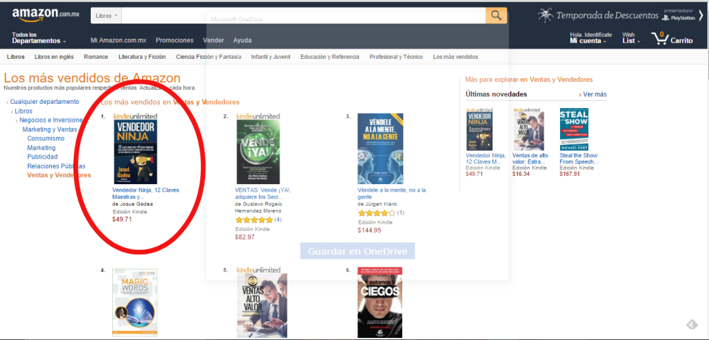 vendedor-ninja-amazon numero 1 en ventas mexico